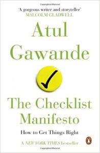 lessons from the checklist manifesto